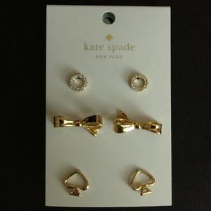 KATE SPADE TRIPLE EARRING SET! BRAND NWTAG!